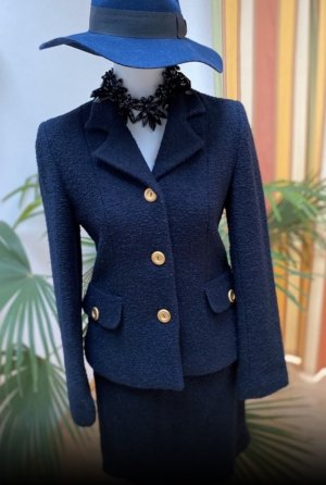 More & More Ladies' Suit dark blue-blue