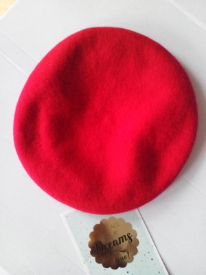 & other stories Beret dark red wool