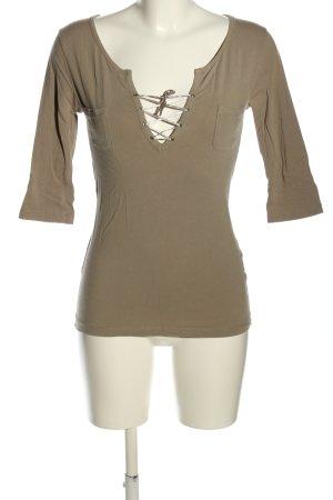 Schierholt V-Ausschnitt-Shirt braun Casual-Look