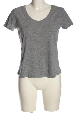 Schiesser Basic-Shirt hellgrau meliert Casual-Look