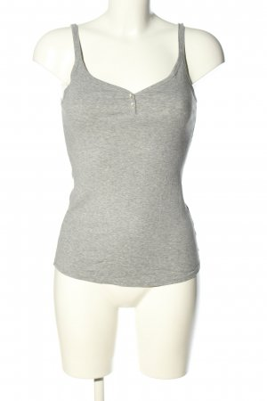 Schiesser Basic Top hellgrau meliert Casual-Look