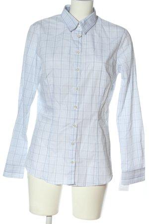 Schiesser Camicia a maniche lunghe blu-bianco motivo a quadri stile casual