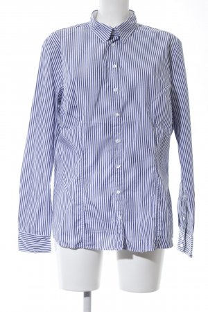 Schiesser Long Sleeve Shirt blue-white striped pattern casual look