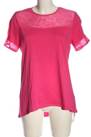 Schiesser Long Shirt pink flower pattern casual look