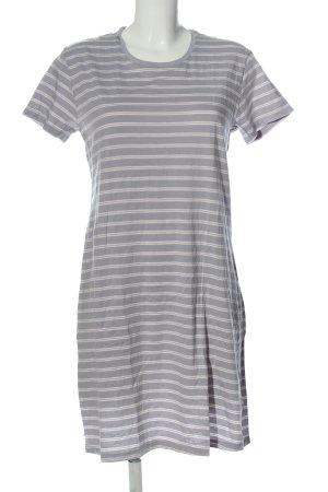 Schiesser Mini Dress light grey-white striped pattern casual look