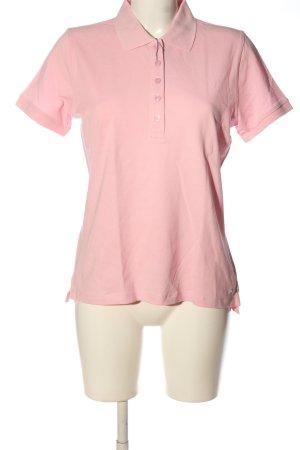 Schiesser Polo rosa stile casual