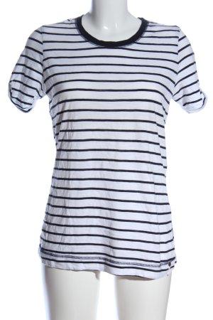 Schiesser Stripe Shirt white-black striped pattern casual look