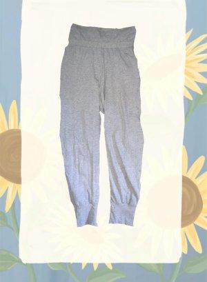 Schiesser Woolen Trousers light grey-silver-colored cotton