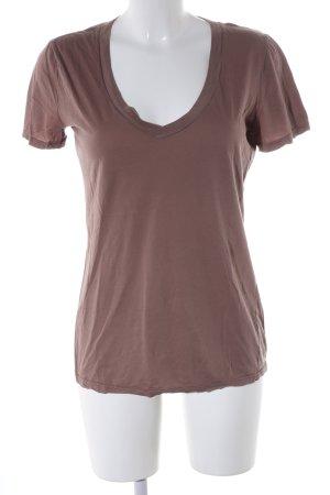 Schiesser T-Shirt braun Casual-Look