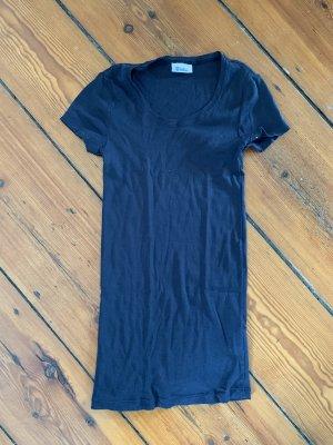 Schiesser T-Shirt Schwarz klassisches Rundhals S Baumwolle