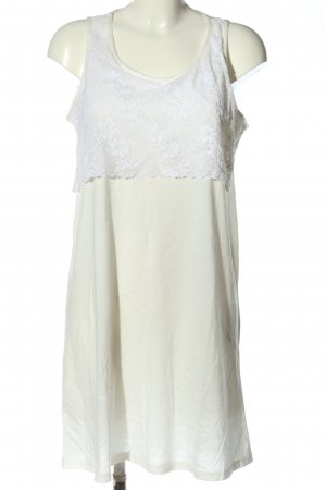 Schiesser Pinafore dress natural white-white weave pattern casual look