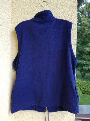 Schiesser Fleece vest donkerblauw