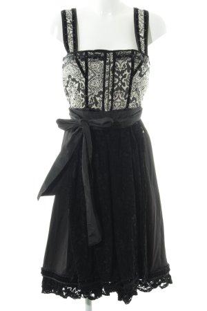 Schiffhauer A-Linien Kleid schwarz-wollweiß abstraktes Muster Elegant