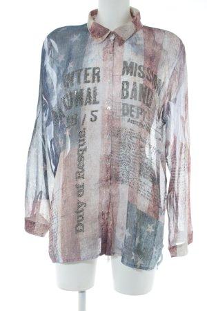 Schiffhauer Langarm-Bluse Motivdruck Casual-Look