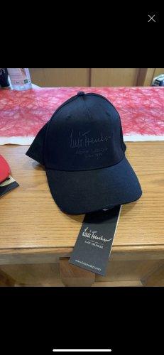 Luis Trenker Miękki kapelusz z szerokim opuszczonym rondem czarny