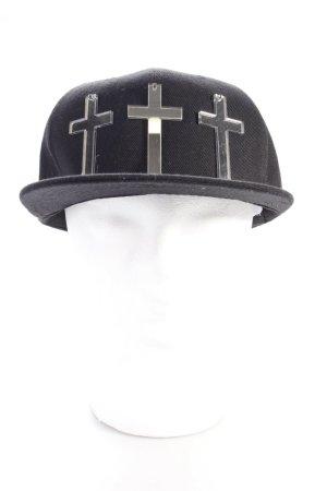 Baseball Cap black-silver-colored