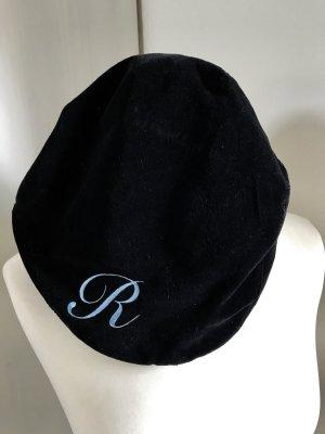 Cappello con visiera nero-azzurro