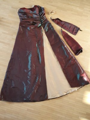 Suknia balowa ciemnoczerwony-leśna zieleń