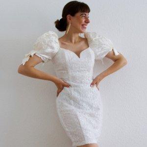 Vintage Vestido de novia blanco