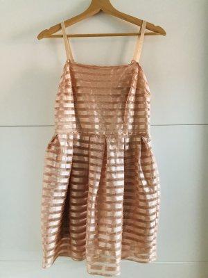 H&M Abito scamiciato color carne-rosa pallido