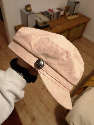 Schirm Mütze Vintage Gr. S altrosa, silber