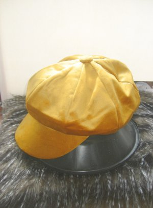 Visor Cap dark yellow-gold-colored cotton