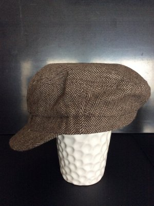 H&M Visor Cap natural white-dark brown