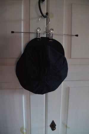 Cappello con visiera nero Cotone