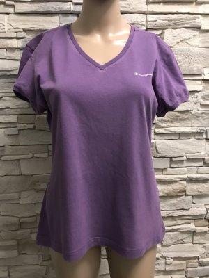 Champion Camisa de cuello barco violeta azulado