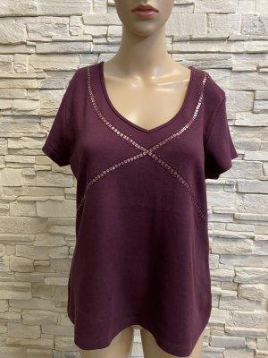 Vivien Caron V-Neck Shirt brown violet