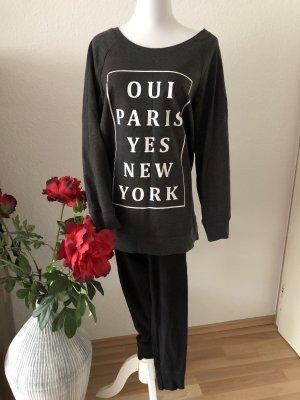 H&M Pyjama gris anthracite-noir
