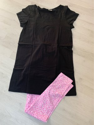 H&M Twin Set tipo suéter negro-rosa
