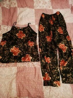 SheIn Pijama negro-rojo