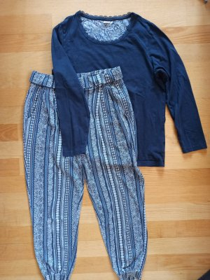 Esmara Pyjama gris ardoise-bleu foncé