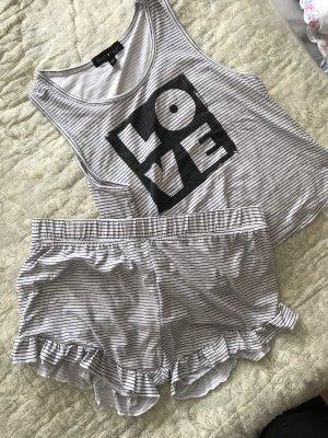 derek heart Pijama negro-blanco