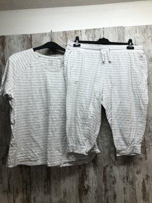 Esmara Pyjama blanc-gris clair