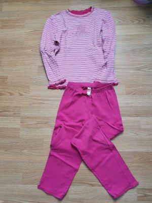 Schlafanzug gestreift Pink