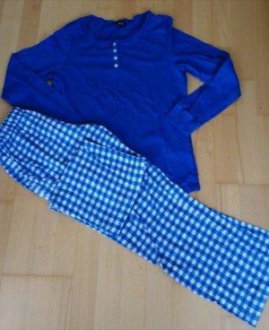 His Piżama biały-niebieski