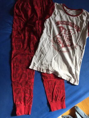 Harry Potter Pyjama white-dark red