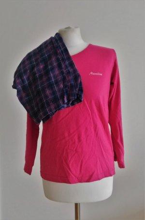 Schlafanzug mit Karo in Pink