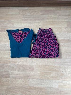 Pyjama roze-petrol