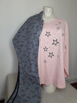 Esmara Pyjama lichtroze-lichtgrijs Katoen