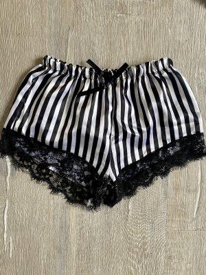 Hot pants bianco-nero