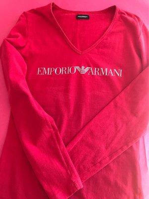 Armani Long Shirt neon red cotton