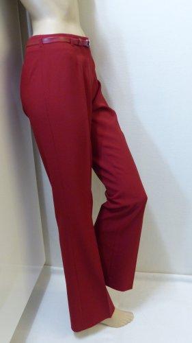 Pantalon pattes d'éléphant rouge-rouge brique polyester