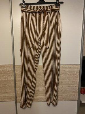 Mango Pantalón de campana crema-marrón