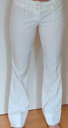 Melrose Broek met wijd uitlopende pijpen wit