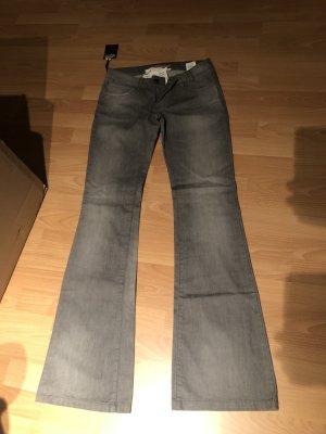 Twin set Pantalon pattes d'éléphant gris