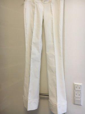 Melrose Pantalón de campana blanco