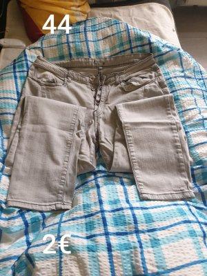 Pantalone a zampa d'elefante grigio chiaro